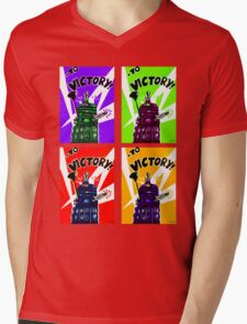 To Victory Dr. Who  Mens V-Neck T-Shirt