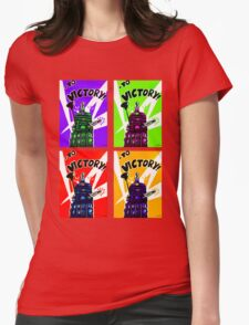 To Victory Dr. Who  Womens Fitted T-Shirt