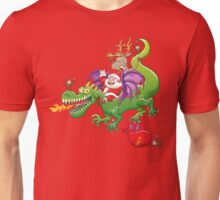 Santa changed his reindeer for a dragon Unisex T-Shirt