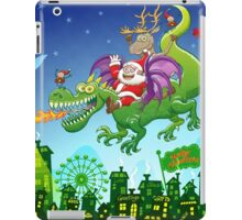Santa changed his reindeer for a dragon iPad Case/Skin