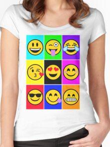 emoji-pop Women's Fitted Scoop T-Shirt