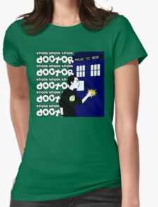 Knock Knock Knock Doctor Womens Fitted T-Shirt
