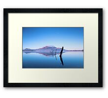 Reflections on Lake Framed Print