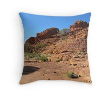 A plateau near the Top! the colours are beautiful! Kings Canyon, N.T. Aust. Throw Pillow