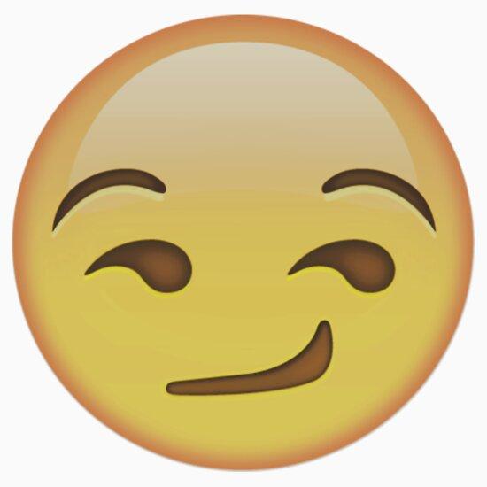 Smirking Face Emoji Stickers Eyes Drawing Tumblr Transparent