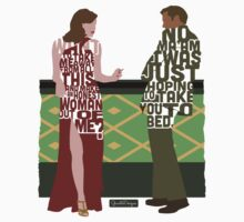 Emma Stone & Ryan Gosling from Gangster Squad Typography Design of Their Conversation by GrantP93