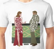 Emma Stone & Ryan Gosling from Gangster Squad Typography Design of Their Conversation Unisex T-Shirt