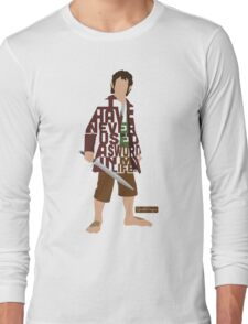Martin Freeman in The Hobbit Typography Design Long Sleeve T-Shirt