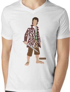 Martin Freeman in The Hobbit Typography Design Mens V-Neck T-Shirt