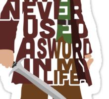Martin Freeman in The Hobbit Typography Design Sticker