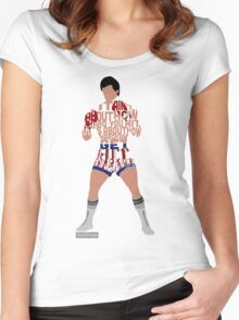 Rocky Balboa From Rocky Typography Quote Design Women's Fitted Scoop T-Shirt