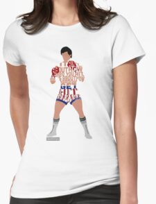 Rocky Balboa From Rocky Typography Quote Design Womens T-Shirt