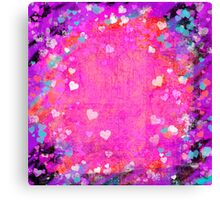 Grunge hearts abstract art II Canvas Print