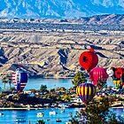 Balloons Over The River by Tina Hailey