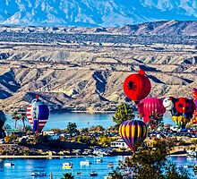 Balloons Over The River by Tina Hailey