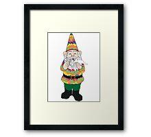 Mr Gnome and Dino Jr. Framed Print