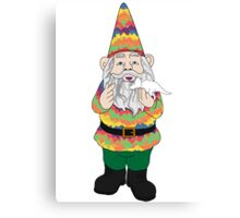 Mr Gnome and Dino Jr. Canvas Print
