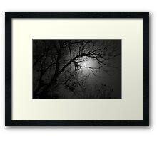 Spooky Moon Framed Print