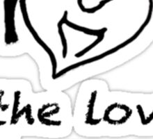 For the Love of Horses (small, black) Sticker
