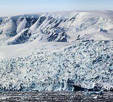 Glacier in Cierva Cove Antarctica by Carole-Anne