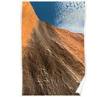 Uluru up close - A study in texture and contrast Poster