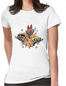 The Power PUG Girls! Womens Fitted T-Shirt