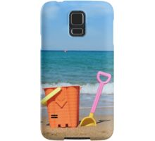 beach with toys summer scene Samsung Galaxy Case/Skin
