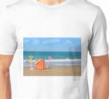 beach with toys summer scene Unisex T-Shirt