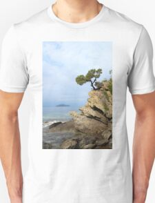 pine tree on a rock above the sea T-Shirt