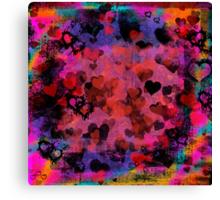 Passionate Hearts  Canvas Print