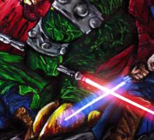 Super Mario Brothers Jedi Sticker
