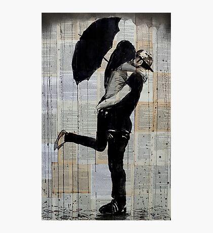rainy day love Photographic Print
