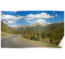 Driving Through the Rockies Poster