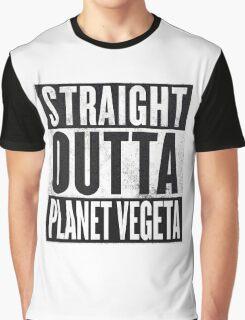 Straight Outta Planet Vegeta - Dragon Ball Z Graphic T-Shirt