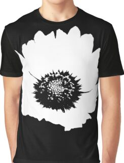 Black & White Flower Graphic T-Shirt