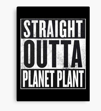 Straight Outta Planet Plant - Dragon Ball Z Canvas Print