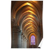 Laon Cathedral, long perspective Poster