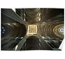 Laon Cathedral, shadows Poster