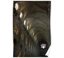 Cathedral of Laon, diagonal Poster