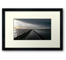 Footpath Around The Lake Framed Print