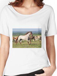 stallion running across the field Women's Relaxed Fit T-Shirt