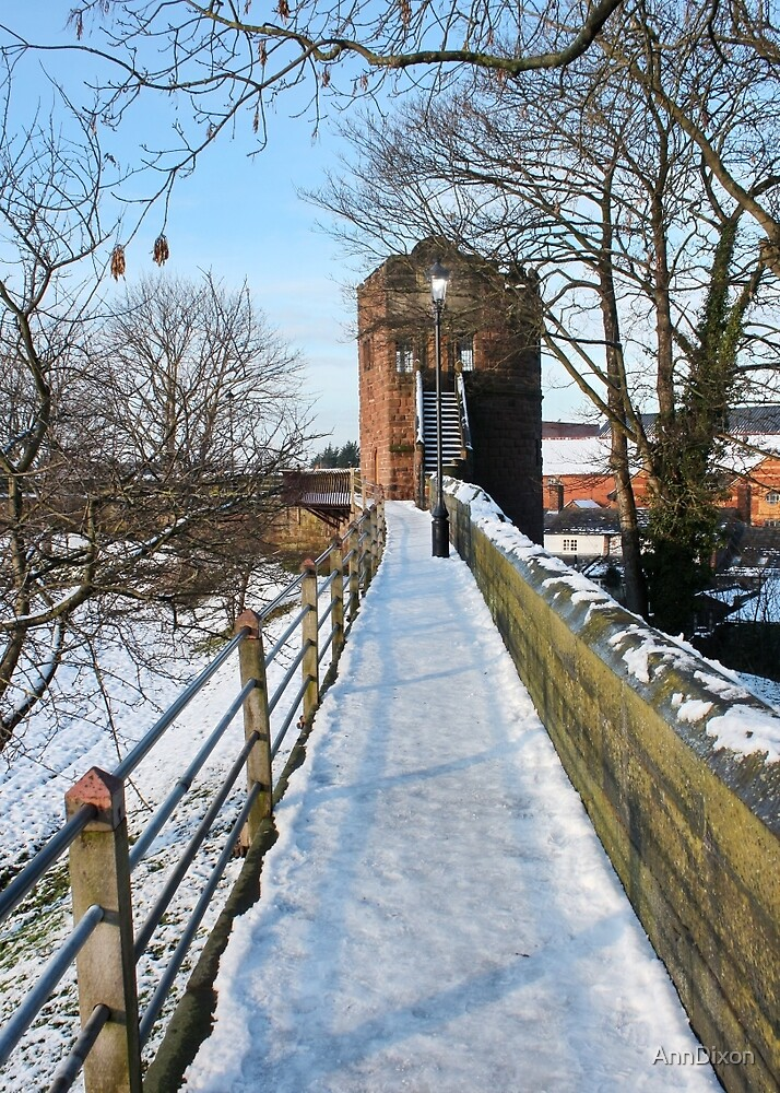Our City Walls in the Snow by AnnDixon
