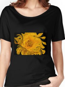 Yellow Wildflower Abstract Women's Relaxed Fit T-Shirt