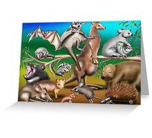 Australian Marsupials Greeting Card
