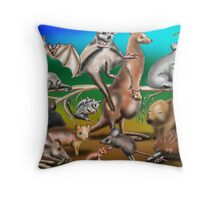 Australian Marsupials Throw Pillow