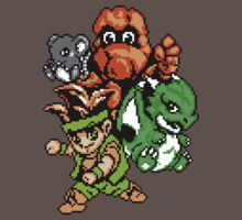 Pixel NES Little Samson Retro Game Fan Shirt by hangman3d