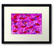 KISSES ALL OVER 2 Framed Print