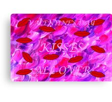 KISSES ALL OVER 2 Canvas Print