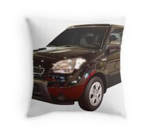 new black 4x4 suv isolated Throw Pillow
