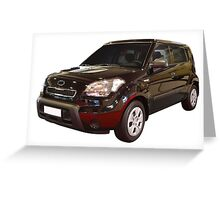 new black 4x4 suv isolated Greeting Card